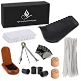 Joyoldelf Smoking Pipe Accessories with Leather Pipe Bag, Wooden Stand Holder, 3-in-1 Pipe Scraper, 50 Pipe Cleaners & 20 Pipe Filters, 4 Pipe Bits and Other Tobacco Pipe Tools, Bonus a Gift Box (Color: Pipe Accessories)