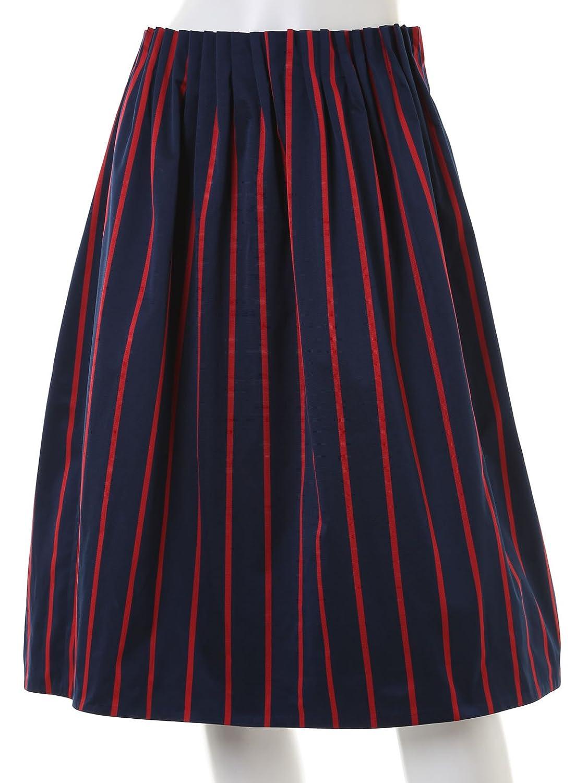 Amazon.co.jp: (イネド)INED カラーストライプ柄スカート: 服&ファッション小物通販