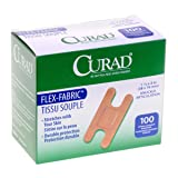 Curad NON25510Z Fabric Adhesive Bandages, Knuckle, Natural (Pack of 100)