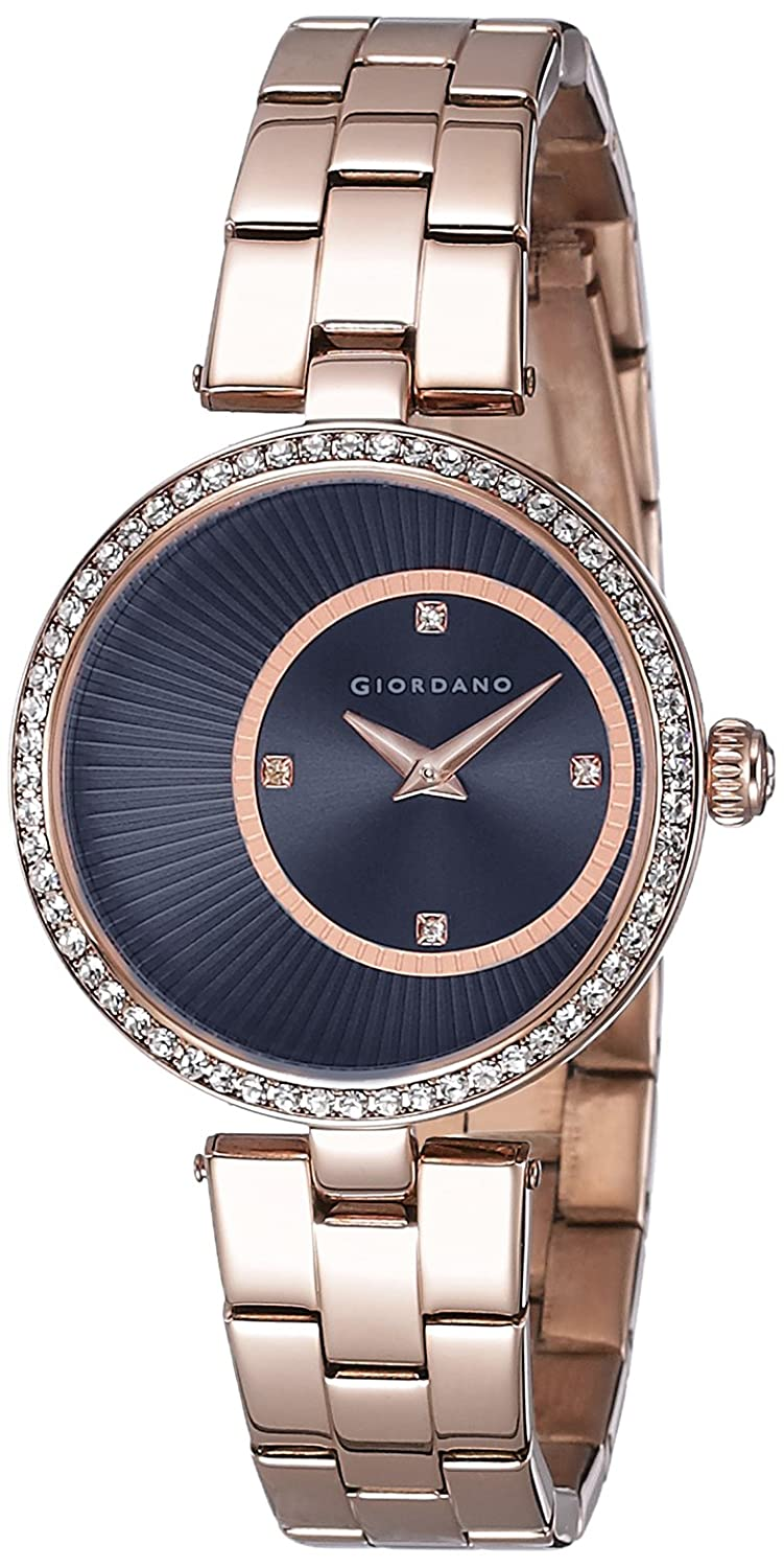 50% off or More On Watches By Amazon | Giordano Analog Blue Dial Women's Watch-A2056-55 @ Rs.3,499