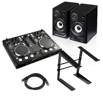 o digital dj set starter two two controllerdj enceintes pied instruments de musique m467. Black Bedroom Furniture Sets. Home Design Ideas