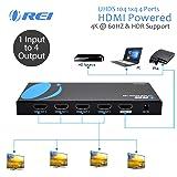 Orei UltraHD 4K @ 60 Hz 1 X 4 HDMI Splitter 1 in 4 Out 4 Port 4: 8-Bit - HDMI 2.0, HDCP 2.18 Gbps (Tamaño: 4 Port)