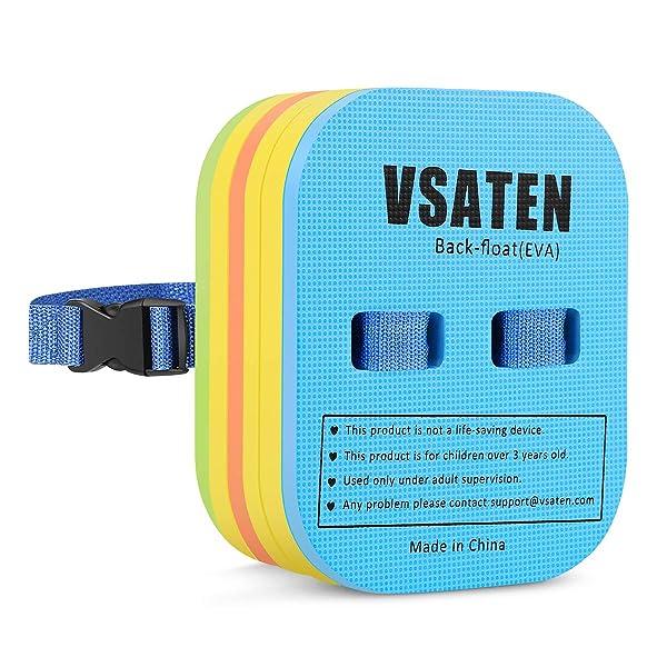 VSATEN Back Float, Swim Belt Bubble Adjustable 3 Layers