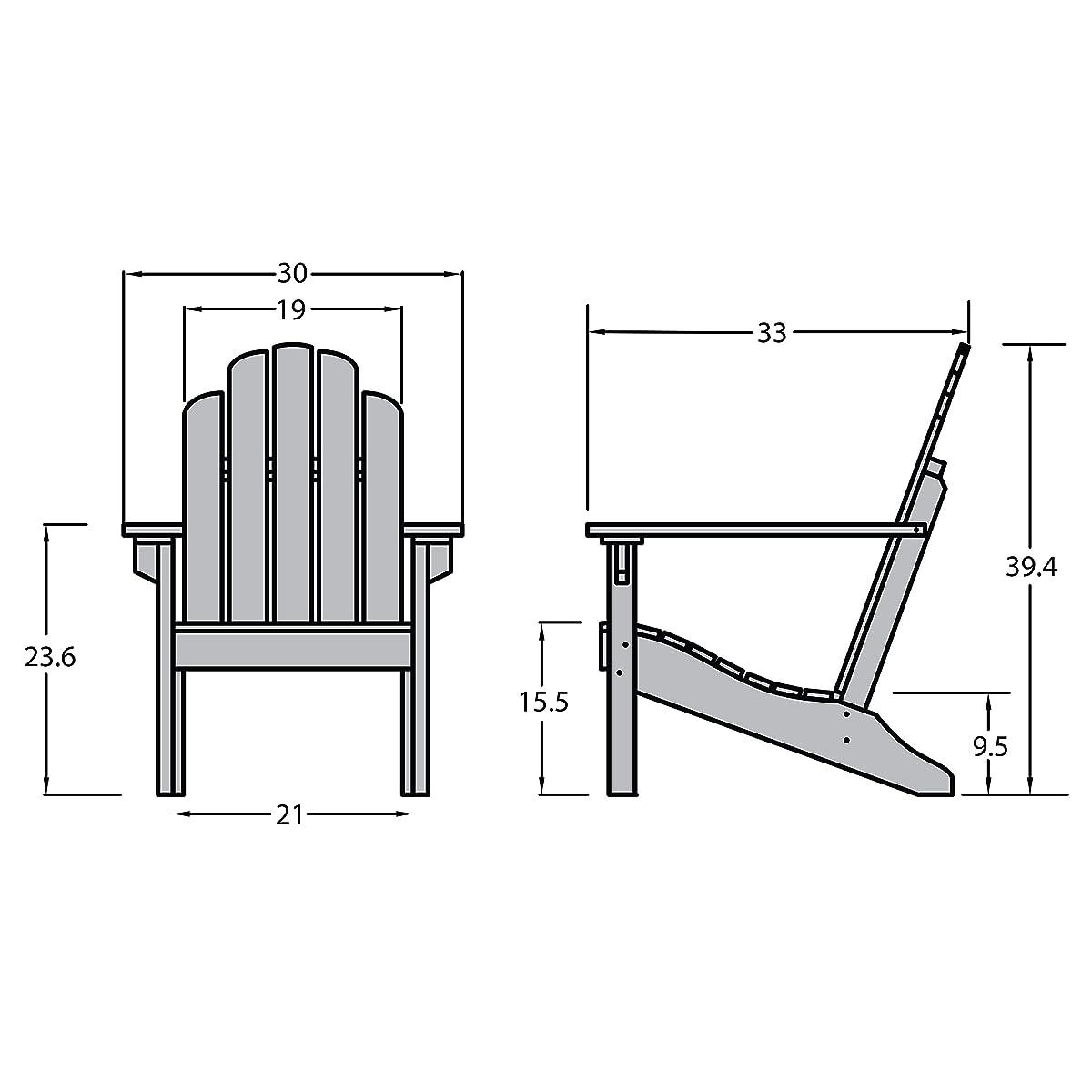 Highwood Classic Westport Adirondack Chair, Black