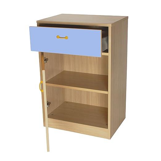 mobeduc armario, madera, lavanda azul, 60x 90x 42cm