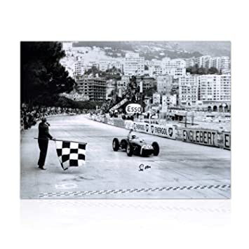Stirling Moss Signed Formula One Photo: Monaco Grand