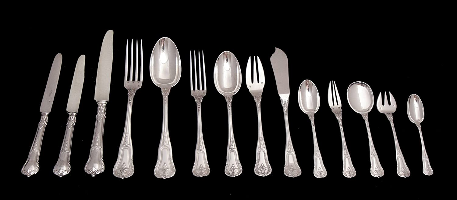 A Stunning 213 Piece Sterling Silver Flatware Set, Including a Gorgeous Assortment of 22 Serving Pieces and 8 Anti-Tarnish Storage Wraps, By International Known French Silversmiths Fouquet-Lapar in Excellent Condition (Circa 1890) !!
