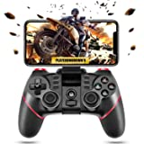 ACGEARY Wireless Bluetooth Android Game Controller Mobile Gaming Controller Gamepad Joystick Compatible for iOS/Android Phone/PC Windows/Tablet/Smart TV/TV Box/ PS3 (Color: red)
