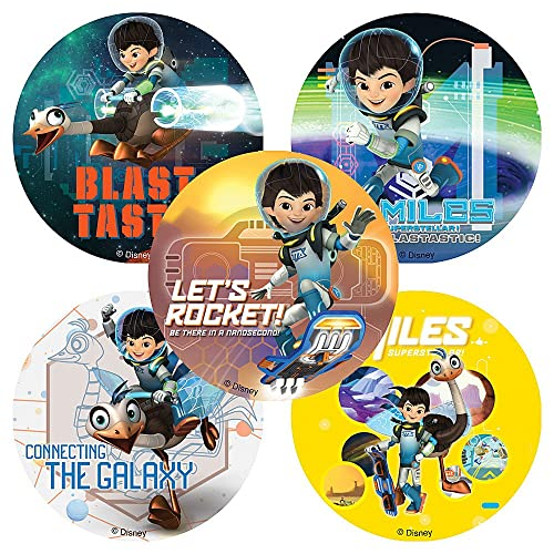 Disney Jr. Miles from Tomorrow Land Stickers - Birthday Party Supplies & Favors - 75 per Pack
