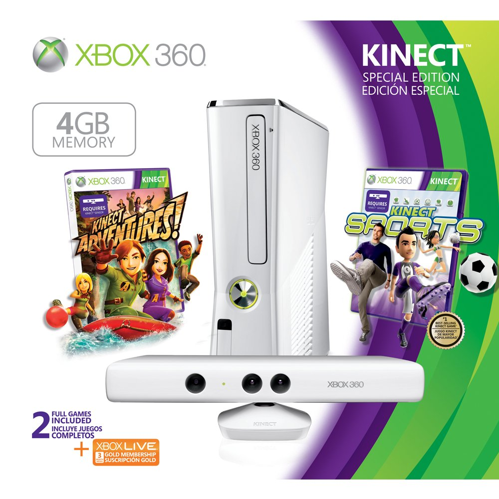 Xbox360 Kinect Game Console Sports Bundle