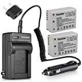 Kastar 2 Pack NB-7L Battery and Replacement Battery Charger for Canon Digital Camera PowerShot G-Series G10 G11 G12 SX30 is
