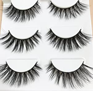 5bb809ea8cf CerroQreen Eyelashes 5 Pairs Pack 3D Fake Eyelashes Mink Fur Hand-Made  Dramatic Thick Crisscross Deluxe ...