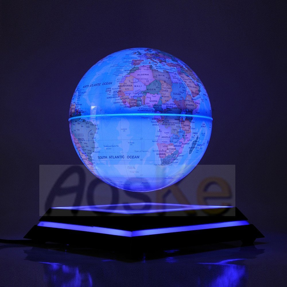 Aoske Levitation Globe Led Light Globes Luminous Globes Floating Globe Globe