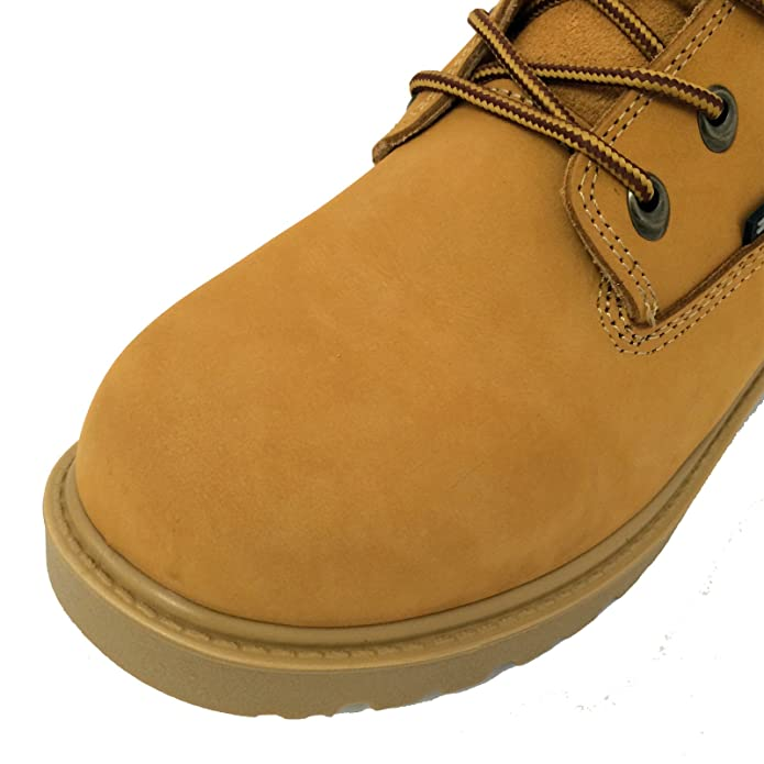 Amazon.com: Z-7681 Men's Work Boots Wheat Full-grain Leather 6 ...