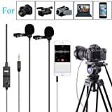 BOYA BY-M1DM LAVALIER DUAL-HEAD MICROPHONE PARA DSLR Camera Camcorder Smartphone