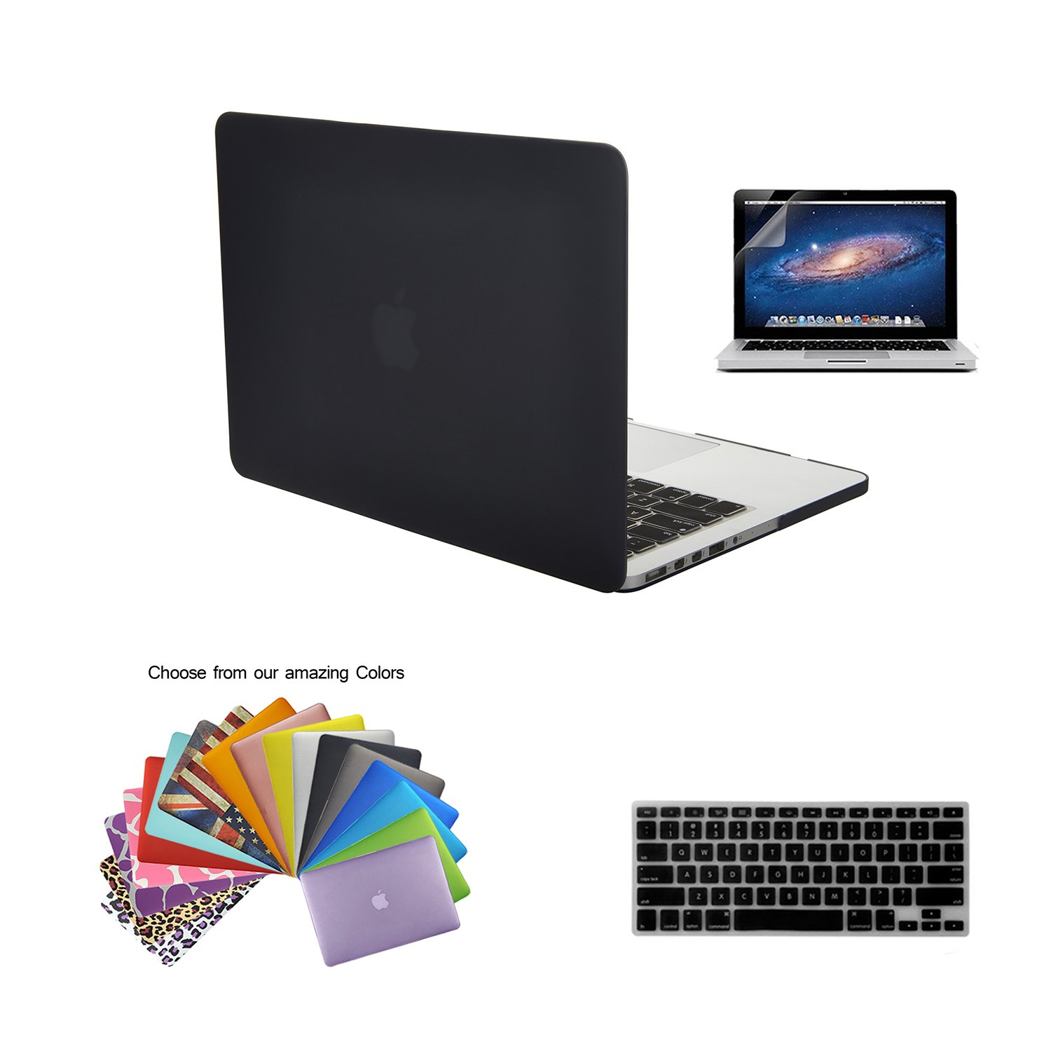 "MacBook Pro 15"" with Retina Display Case TECOOL® 3 in 1 Ultra Slim Multi Colors Plastic Hard Case Cover .."