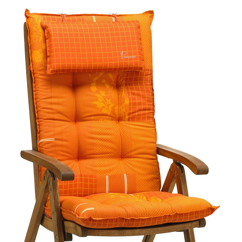 6 auflagen f r hochlehner in terracotta orange sun garden. Black Bedroom Furniture Sets. Home Design Ideas
