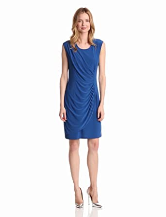 Tiana B Women's Fabulous and Flattering Dress, Royal, 6