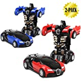 Toy Cars, Transformers One-Step, 2-pack (001 Red and Blue)