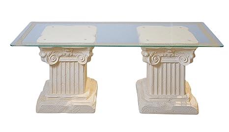 Couchtisch Wohnzimmertisch Glastisch Säulentisch Steintisch Versa Serie