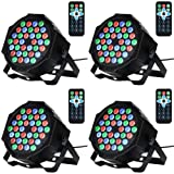 Litake 36LED Par Lights for Stage Lighting with RGB Magic Effect by Remote and DMX Control for Party Show DJ Disco-4 Pack (Color: RGB, Tamaño: 36LED-4 Pack)