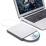 External CD DVD Drive,ONCHOICE USB 2.0 External Disc Optical Drive, Slim CD/DVD-RW Writer Player Burner for Windows OS, Laptop Desktop PC (Color: DVD USB2.0)