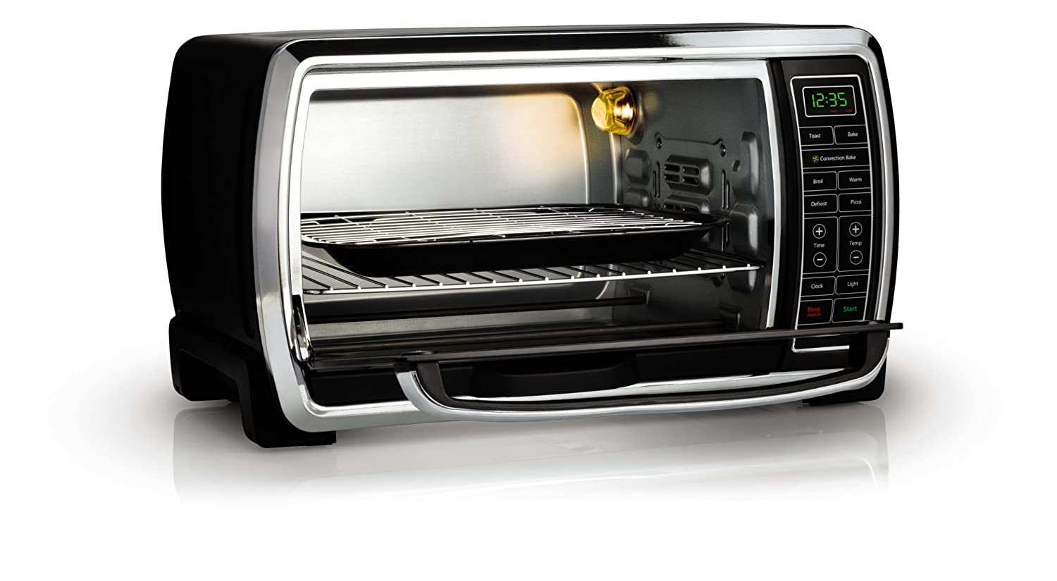 Electric Toaster Oven Microwave Cooking Digital Control Stainless Home ...