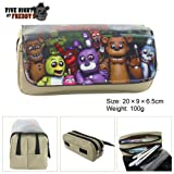 Lcrystal for Five Nights at Freddy's Stationary Pencil Holder Bag, Packing Organizer, Cosmetic Bag, Animation Purse - Khaki