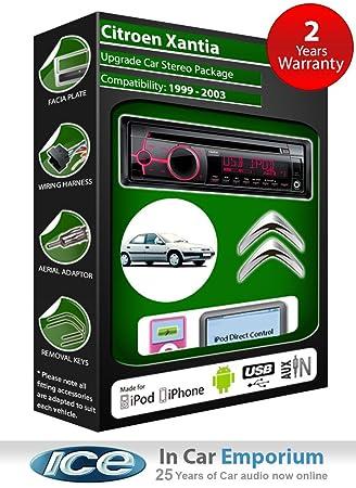 Citroen Xantia II lecteur CD et stéréo de voiture radio Clarion jeu USB pour iPod, iPhone, Android