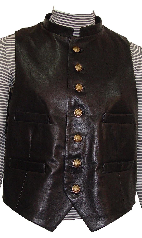 Paccilo GRATIS tailor Herren 1031 PREMIUM Klasse Lammskin Leder Weste online bestellen
