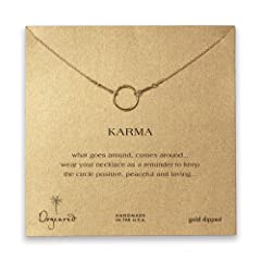 Dogeared Karma Necklace Gold Dipped - 16