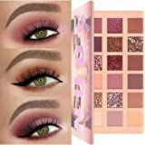 New NUDE Huda Beauty Eyeshadow Palette Glitter 18 Colours Makeup Cosmetics (Color: Gold)