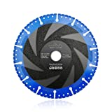 SHDIATOOL 7 Inch Metal Cutting Diamond Blade All-Purpose Diamond Cut-off Wheel Marble Aluminum Pipe Iron Hard Plastic PVC and more (Color: Black and Blue, Tamaño: 7 Inch)