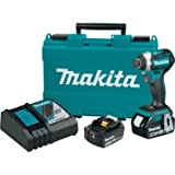Makita XDT14M 18V LXT Lithium-Ion Brushless Cordless Quick-Shift Mode 3-Speed Impact Driver Kit (4.0Ah), (Discontinued by Manufacturer) (Color: green)