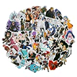 Fairy Tail 50pcs/Pack Stickers Variety Vinyl Car Sticker Motorcycle Bicycle Luggage Decal Graffiti Patches Skateboard Stickers for Laptop Stickers for Kid and Adult (Fairy Tail) (Color: FAIRY TAIL)