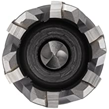 "Jancy Slugger Carbide-Tipped Annular Cutter, Uncoated (Bright) Finish, 1/2"" Shank with Flats, 1"" Depth"