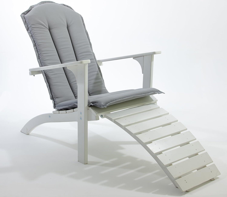 GARDENho.me Nordischer ADIRONDACK Chair Falun inkl. Kissen Massivholz, Deckchair, 5 Farbvarianten Weiß günstig bestellen