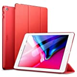 ESR Yippee Trifold Smart Case for iPad 9.7 2018/2017, Lightweight Smart Cover with Auto Sleep/Wake, Microfiber Lining, Hard Back Cover for iPad 9.7 iPad 5th / 6th Generation, Red (Color: 05red, Tamaño: 9.7 Inch)