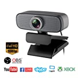 Spedal Full HD Webcam 1080p, Beauty Live Streaming Webcam, Computer Laptop Camera for OBS Xbox XSplit Skype Facebook, Compatible for Mac OS Windows 10/8/7 (Color: C927)