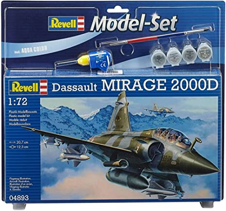 Revell - 64893 - Maquette D'aviation - Mirage 2000d - 74 Pièces - Echelle 1/72