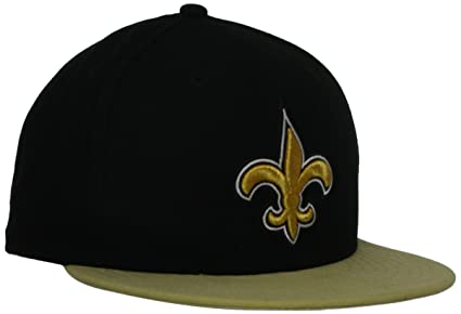 NFL New Orleans Saints Black and Team Color 59Fifty Fitted Cap, Black/Gold, 7
