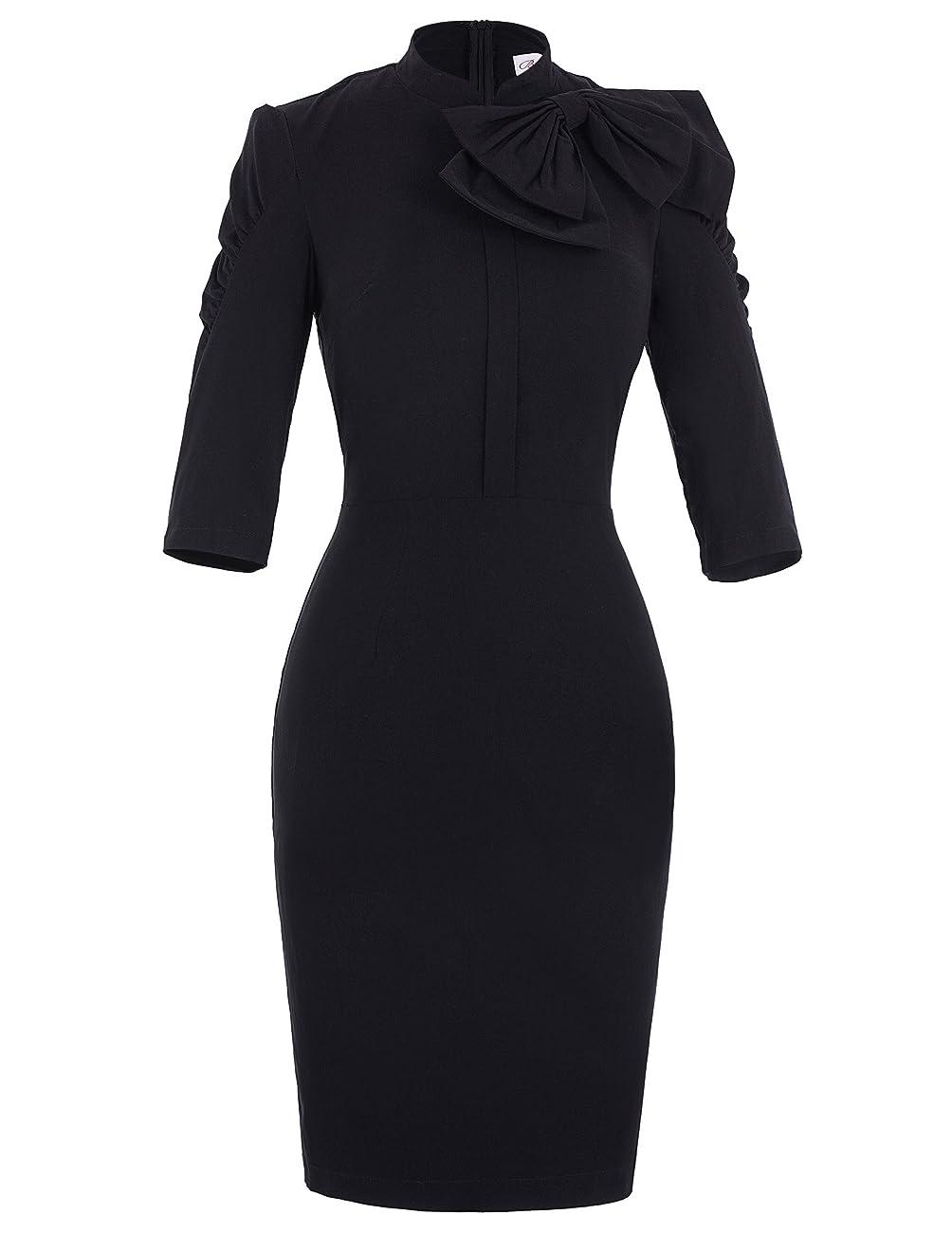 Belle Poque Women 50s Bodycon Dress Slim Vintage Pencil Dress BP106/146 0