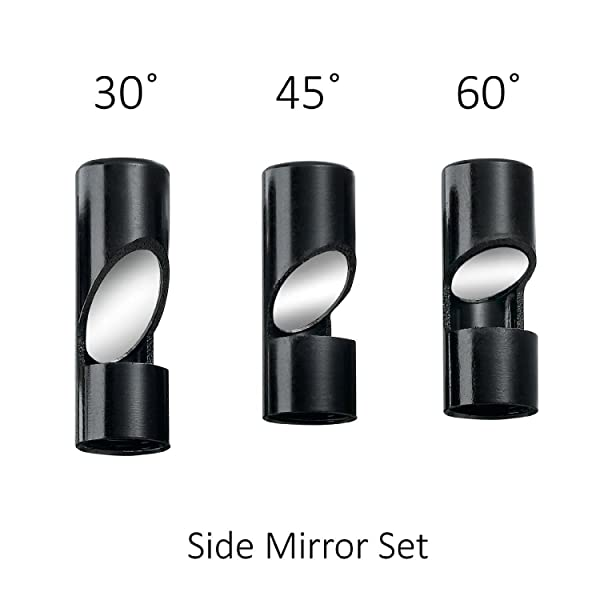 Yunanwa Supereyes Borescope Side View Mirror Set 30 45 60 degrees for Borescope Endoscope N005 N013J N015 series