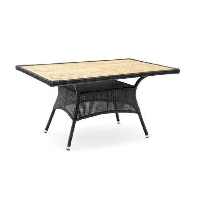 Belardo 267318 TELESTO Garten Tisch rechteckig, schwarz, TEAK online kaufen