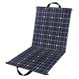 100 Watts 12 Volts Portable Solar Panel Kit Charger Foldable Flexible Monocrystalline Solar Charger with MC4 Connector and Dual-port(USB 5V + DC 18V) for Outdoors, Camping, Solar Generator, RV, Boat (Color: 100W Portable, Tamaño: 100W)