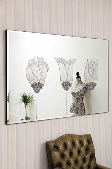 Small Silver Tulip Design Bevelled Venetian Mirror