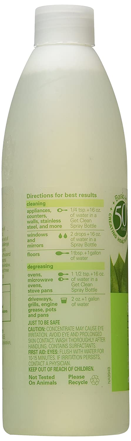 Amazon.com: Shaklee Basic H2 Organic Super Cleaning Concentrate ...