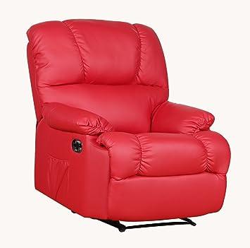 Fernsehsessel von MACO Relaxsessel TV Sessel in Kunstleder rot