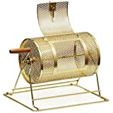 Yaheetech 11'' x 8'' Brass Plated Ticket Poker Raffle Drum Spinning Lottery (Color: Gold, Tamaño: 14.8×10.6×11inch)