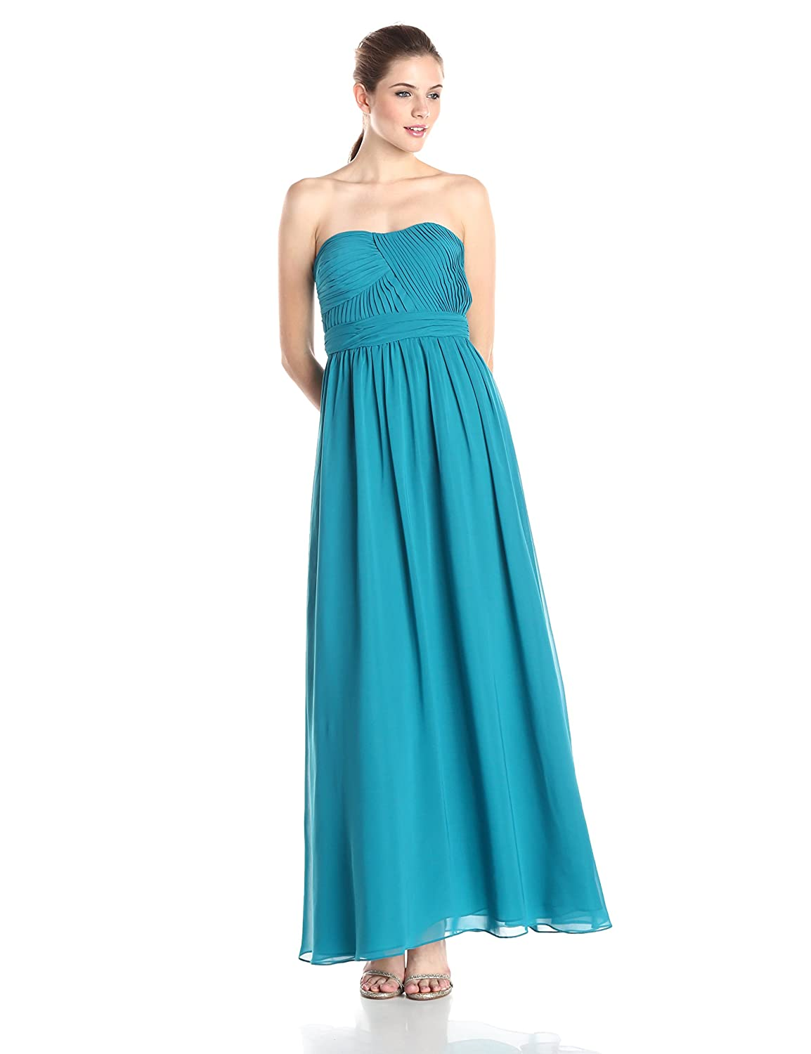Strapless Solid Gown